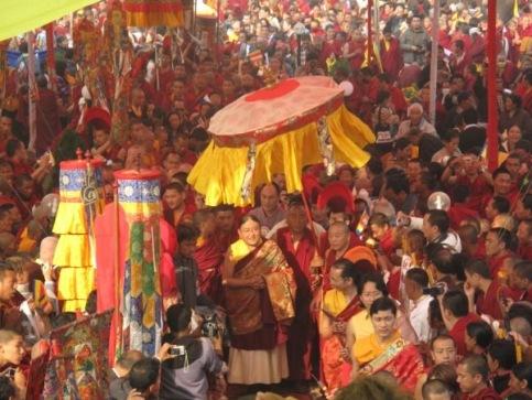 HH Sakya Trizin 2009 Nepal Monlam