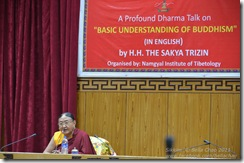 111018 HH Sakya Trizin Talk in Gangtok 004